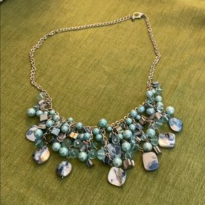 Turquoise Beaded Drop Necklace